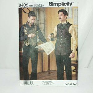 SIMPLICITY SIZE 38-44 mens PATTERN 8408 VICTORIAN